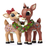 Rudolph & Clarice with Wreath