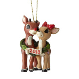 Rudolph with Clarice, 2018 Dated Ornament