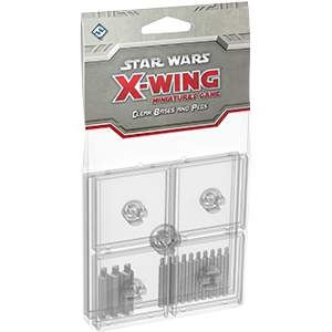 Star Wars X-Wing Miniatures Bases & Pegs Clear