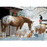 Winter Barnyard 350 piece Family Puzzle