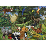 Noah's Gathering 350 piece Family Puzzle