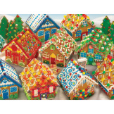 Gingerbread Houses 350 piece Family puzzle