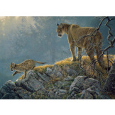 Excursion - Cougar & Kits 350 piece Family Puzzle