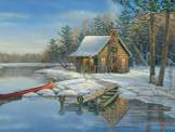 Winter Cabin 275 piece puzzle