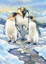 Penguin Family 350 piece Family Puzzle