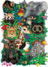 Safari Babies 350 piece Family Puzzle