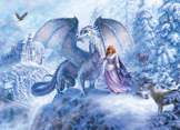 Ice Dragon 350 piece Family Puzzle