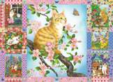 Blossom and Kittens Quilt 1000 piece puzzle