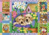 Puppies and Posies 1000 piece puzzle