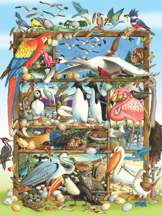 Birds of the World 350 Piece Family Puzzle