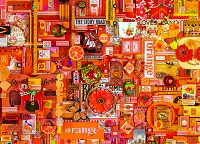 Rainbow collection-Orange 1000 piece puzzle