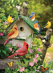 Summer Birdhouse 1000 piece puzzle
