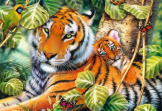 Two Tigers 1500 piece puzzle