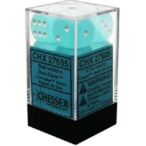Chessex Dice 12D6 Frosted Teal/White 16MM