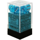 Chessex Dice 12D6 Circus Aqua/Silver 16MM