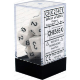 Chessex Dice Opaque 7pc White/Black