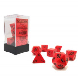Chessex Dice Opaque 7pc Red/Black
