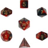 Chessex Dice Gemini Black/Red/Gold