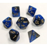 Chessex Dice Gemini Black/Blue/Gold