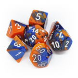 Chessex Dice Gemini Blue/Orange/Whie