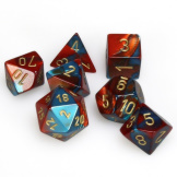 Chessex Dice Gemini Red/Teal/Gold