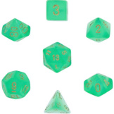 Chessex Dice Borealis: 7Pc Light Green / Gold