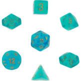 Chessex Dice Borealis: 7Pc Teal / Gold
