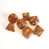 Chessex Dice Glitter 7pc Gold/Silver