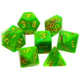 Chessex Dice Vortex 7pc Slime/Yellow