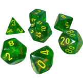 Chessex Dice Borealis 7pc Maple Green/Yellow