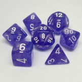 Chessex Dice Borealis 7pc Purple/White Luminary