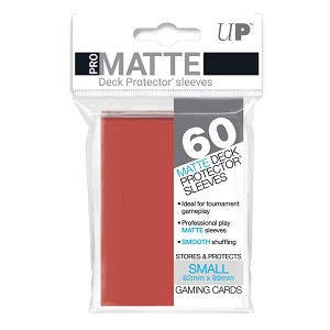 Ultra Pro Deck Protectors Small Matte Red 60CT