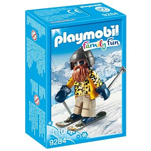 Playmobil Skier With Poles