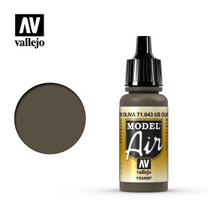 Vallejo Model Air Olive Drab 17ml