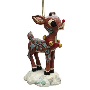 Snow Covered Rudolph Ornament