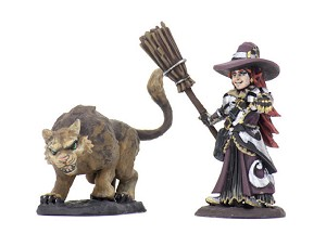 Wardlings Pre Painted Girl Witch With Cat