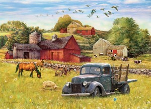 Summer Afternoon on the Farm 1000 piece puzzle