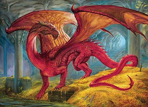 Red Dragons Treasure 1000 pieces