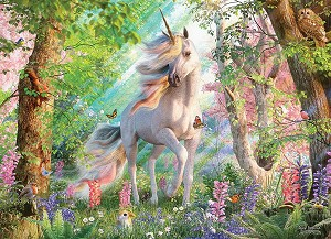 Unicorn in the Woods 500 piece puzzle