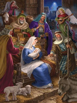 Holy Night 350 Piece Family puzzle