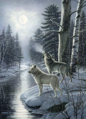 Wolves by Moonlight 1000 pieces