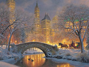 Winter in the Park 500 piece puzzle