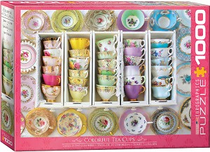 Colorful Tea Cups 1000 Pieces