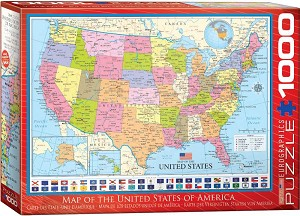 Map Of The USA 1000 Pieces