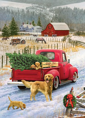 Christmas on the Farm 1000 piece puzzle