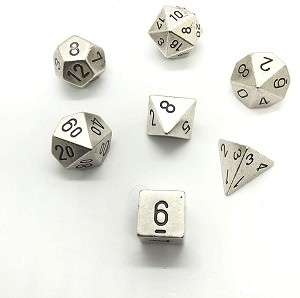 Chessex Dice RPG Metal Silver