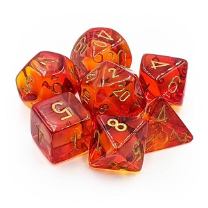 Chessex Dice RPG 7 Set Gemini Red/Yellow with Gold