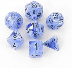 Chessex Dice RPG Vortex Snow Blue/Black