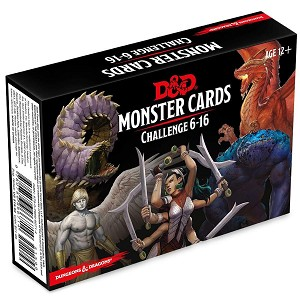 D&D 5th Ed. Monster Cards Challenge 6-16